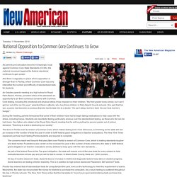 National Opposition to Common Core Continues to Grow