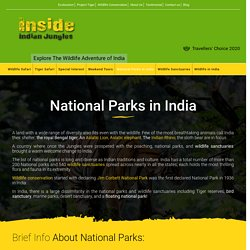 33 Best National parks in India to visit and All Parks State wise