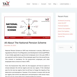 All About The National Pension Scheme - TaxHelpdesk