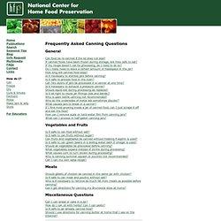 Canning FAQs