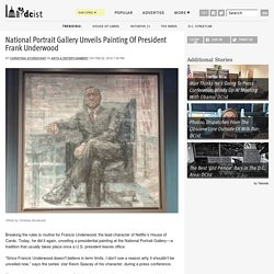 National Portrait Gallery Unveils Painting Of President Frank Underwood