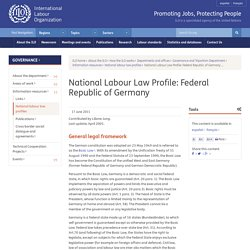 National Labour Law Profile: Federal Republic of Germany