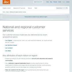 National and regional customer services