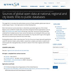 Sources of global open data at national, regional and city levels: links to public databases