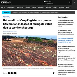 National Lost Crop Register surpasses $45 million in losses at farmgate value due to worker shortage