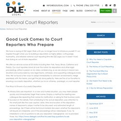 National Court Reporting Firms