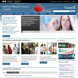 National Research Council Canada: Home