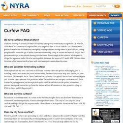 National Youth Rights Association » Curfew FAQ