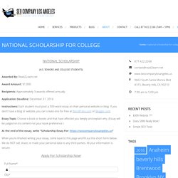 National Scholarship For College $1,000
