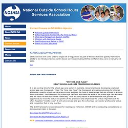 National Out of School Hours Association (NOSHSA)