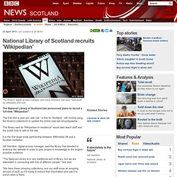 National Library of Scotland recruits 'Wikipedian'