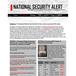 NATIONAL SECURITY ALERT - Get NSA