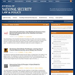 Journal of National Security Law & Policy » Read