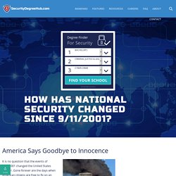 How has National Security Changed Since 9/11/2001? - Security Degree Hub