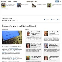 Obama, the Media and National Security - Room for Debate