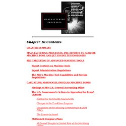 U.S. NATIONAL SECURITY AND THE PEOPLE'S REPUBLIC OF CHINA -- CHAPTER 10