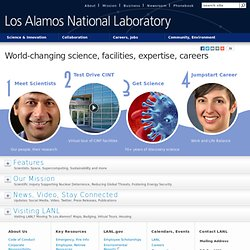 Los Alamos National Lab: National Security Science