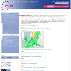 National Cyber Security Strategies in the World — ENISA