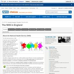 About the National Health Service (NHS) in England