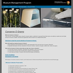 National Park Service - Museum Management Program