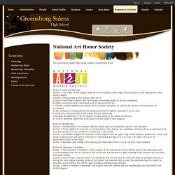 National Art Honor Society / NAHS Constitution