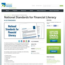 National Standards for Financial Literacy by CEE