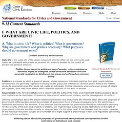 National Standards for Civics and Government