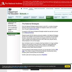 The National Strategies - Schools