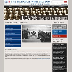 The National WWII Museum | New Orleans: Learn: For Students: Essay Contests