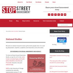 National Street Harassment Report- Stop Street Harassment