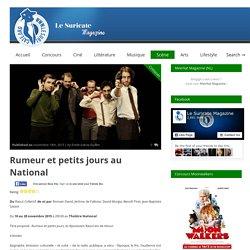 """""""Rumeur et petits jours"""" au National"""