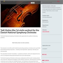 Tutti Violins (the 1st violin section) for the Danish National Symphony Orchestra