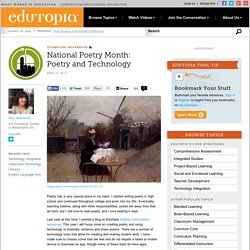 National Poetry Month: Poetry and Technology
