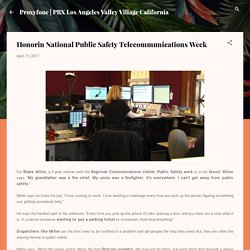 Honorin National Public Safety Telecommunications Week