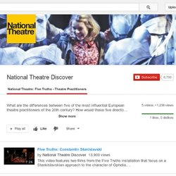 National Theatre: Five Truths - Theatre Practitioners