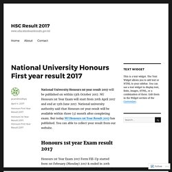 National University Honours First year result 2017 – HSC Result 2017