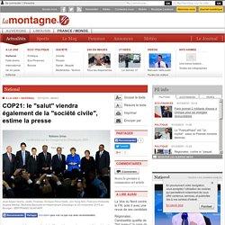 """National - COP21: le """"salut"""" viendra également de la """"société civile"""", estime la presse"""
