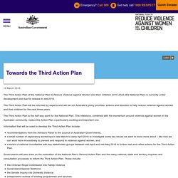 National Plan to Reduce Violence against Women and their Children