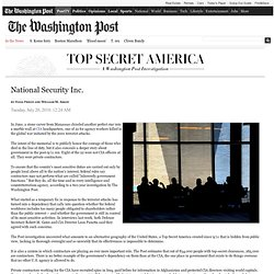 July 20 : National Security Inc. (Printer friendly version)