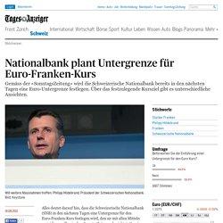 Nationalbank plant Untergrenze für Euro-Franken-Kurs - Schweiz: Standard -