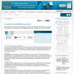 L'Agence nationale des Usages des TICE - Un atelier de remédiation au cycle 2