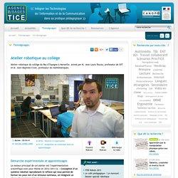 Atelier robotique au collège SVT - Technologie
