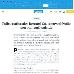 Police nationale : Bernard Cazeneuve dévoile son plan anti-suicide