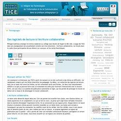 L'Agence nationale des Usages des TICE - Des logiciels de lecture à l'écriture collaborative