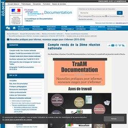 Compte rendu de la 2ème réunion nationale — Documentation (CDI)
