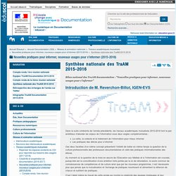 Synthèse nationale des TraAM 2015-2016 — Documentation (CDI)