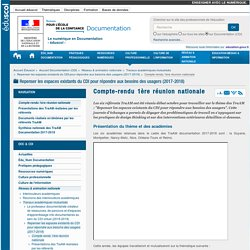 Compte-rendu 1ère réunion nationale — Documentation (CDI)