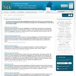 L'Agence nationale des Usages des TICE - Bases de données éducatives