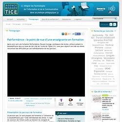 L'Agence nationale des Usages des TICE - Pairform@nce : le point de vue d'une enseignante en formation