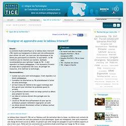L'Agence nationale des Usages des TICE - Enseigner et apprendre avec le tableau interactif